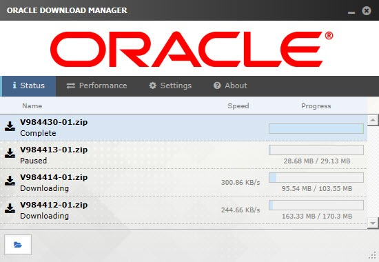 Oracle-Download-Manager