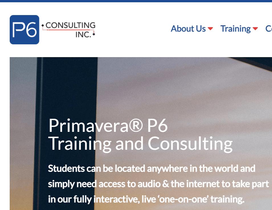 P6 Consulting Primavera Training