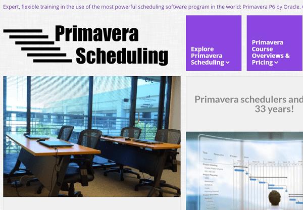 Primavera Scheduling Training