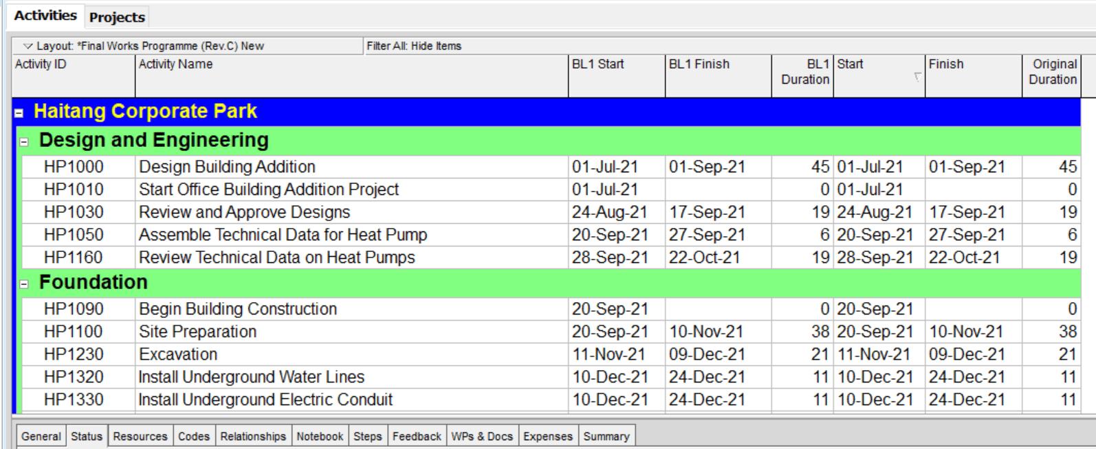 Baseline-Schedule-8