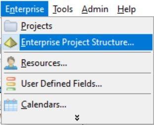 Enterprise Project Structure Menu