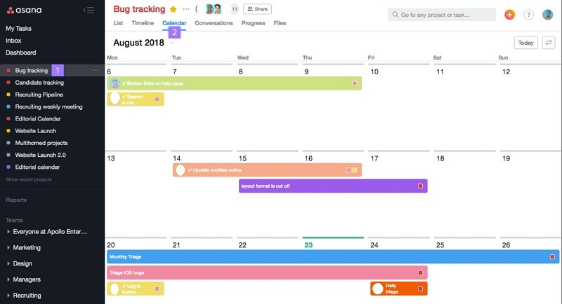 Calendar-Asana